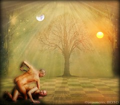 Cain and Abel (jesuscm) Tags: sun moon tree sol arbol brothers luna textures violence bible abel texturas hermanos violencia biblia cain jesuscm joessistah koppdelaney magiayfotografia thelittlebookoftreasures artuniinternational