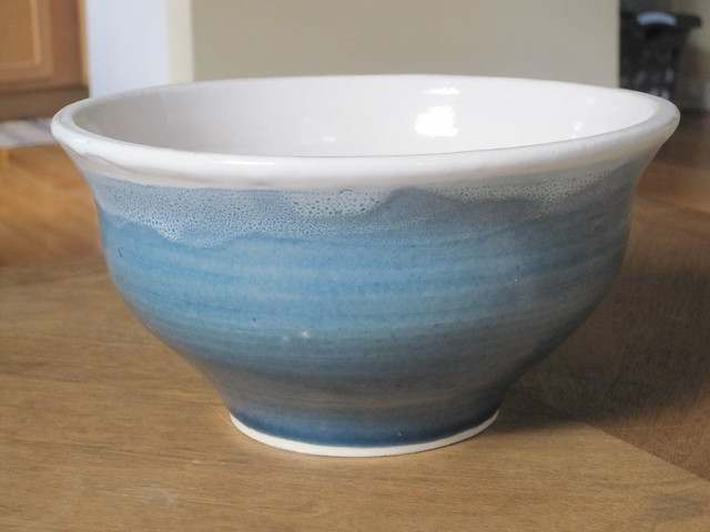 Surf blue large bowl