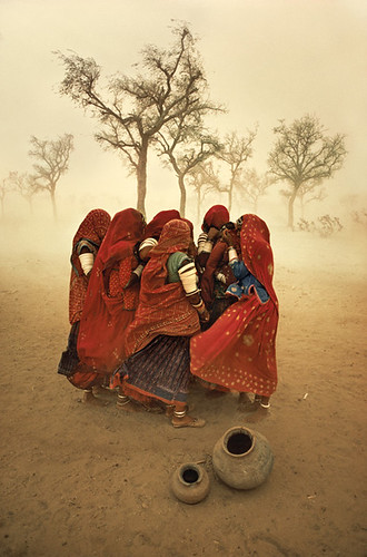 Dust storm, Rajasthan, India, 1983, by Steve McCurry