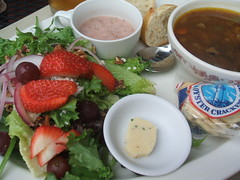Summer salad and soup