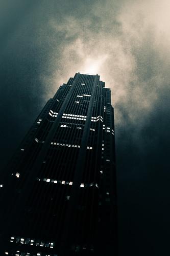 フリー写真素材, 建築・建造物, 高層ビル, モノクロ写真, アメリカ合衆国,