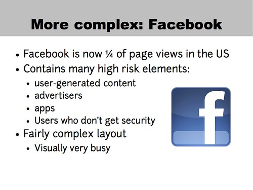 A more complex example: Facebook