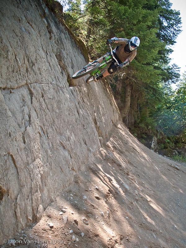 Zim on the rock wallride on Duffman