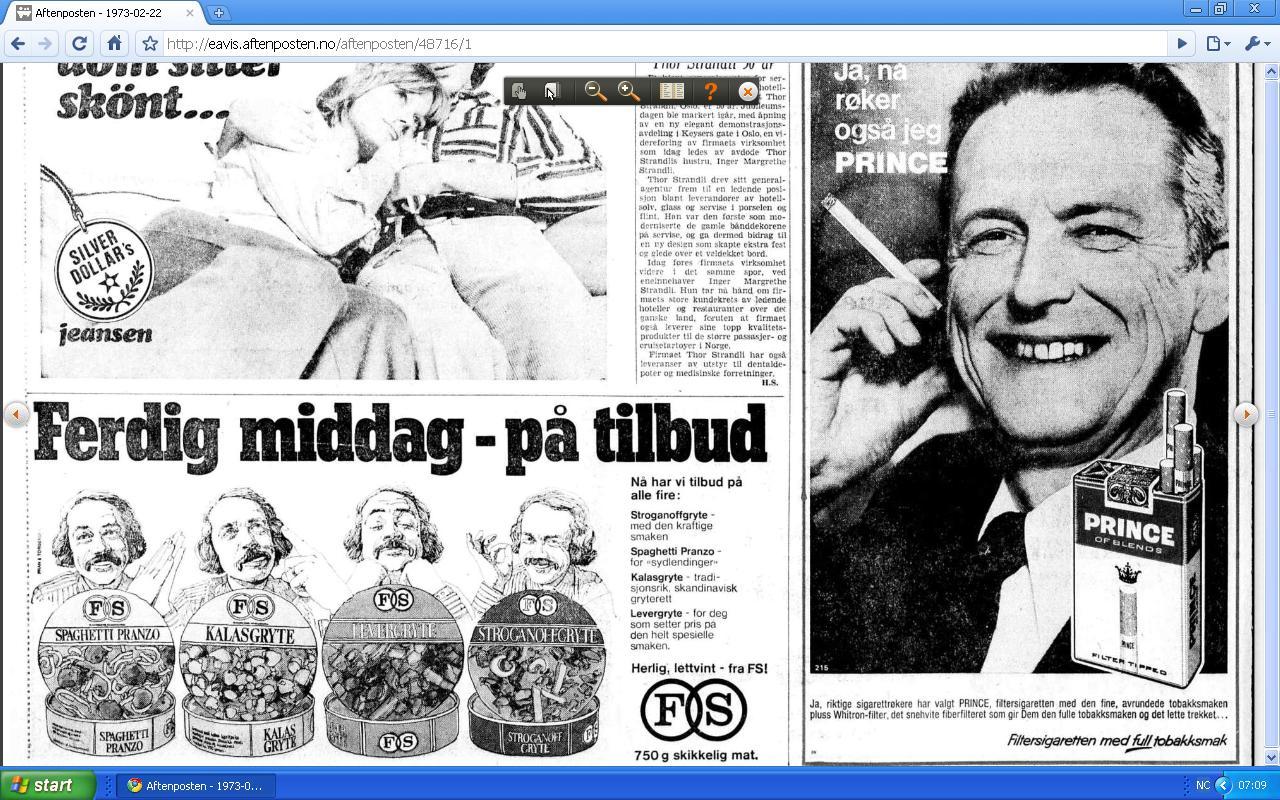 reklame fra 1973
