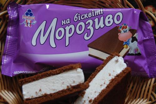 Мороженое на бисквите!
