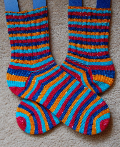 FO: Stripey Socks