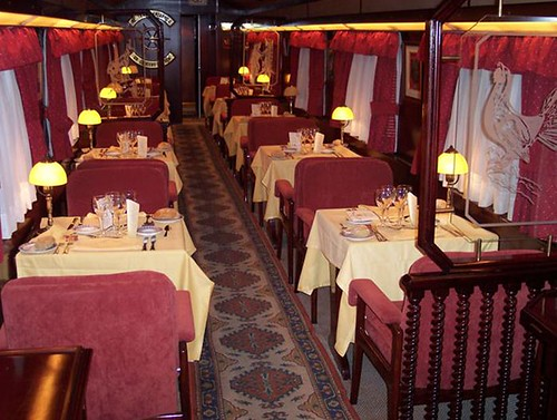 El Transcantabrico - Spanish luxury train, restaurant