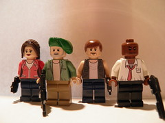 Left 4 Dead Survivors (~Amadgunslinger~) Tags: lego custom left 4 dead minifigs mini figs zoey bill francis louis zombie apocalypse infected