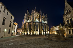 Prague Castle - St Vitus Cathedral (DiGitALGoLD) Tags: old bridge castle saint st 30 night square town nikon long exposure republic shot czech prague cathedral tripod parliament charles praha nikkor f28 gitzo hrad vitus seconds d3 republika ceska 1424 1424mm