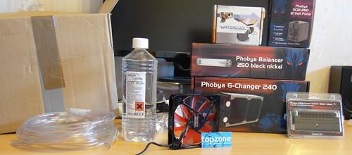 Phobya Aquatuning: Intel i7 vandens aušinimo sistema