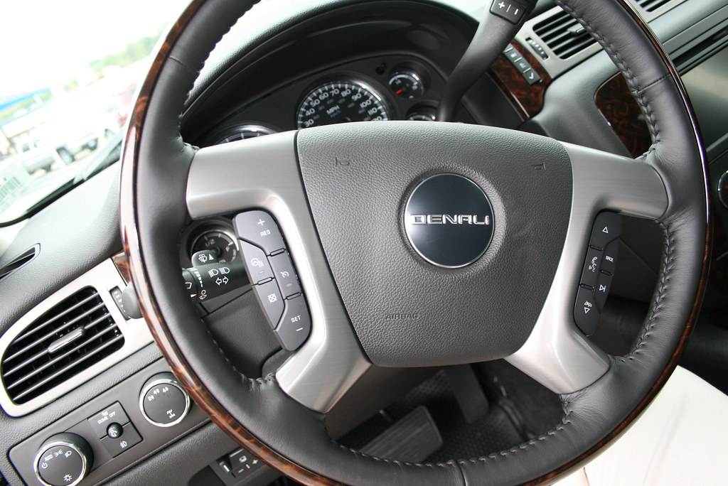 Steering Wheel Controls on the All New 2011 GMC Sierra 2500HD Denali at James Wood Decatur and Denton