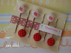 Thanks! (coco stitch) Tags: red wrapping strawberry gift hairpin bobbypin