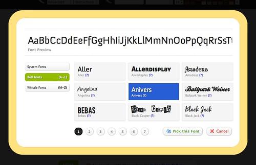 Wufoo font picker