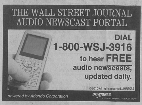 WSJ Audio Newscast