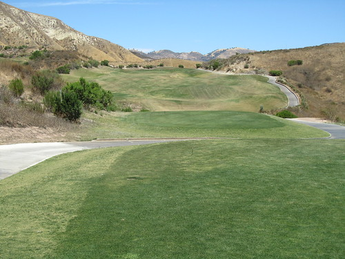 First hole at Lost Canyons Golf - Ventura County CA