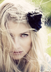 Alina (Elena (Litsova) Sigtryggsson) Tags: portrait eye girl beautiful wind messyhair flowerhairclip