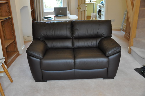 Our new leather sofa