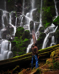 Raj at Ramona (Gary Randall) Tags: oregon waterfall photographer raj mthoodnationalforest ramonafalls mthoodwilderness garyrandall dsc49982