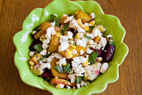 Roasted Beet, Artichoke, and Sweet Corn Salad - 4
