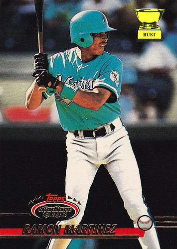 Baseball Card Bust Ramon Martinez 1993 Topps Stadium Club