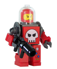 Space Pirate Mech Kit (Red) (miniBIGS) Tags: star power lego space pirates police wars minifig custom mech miners minifigure minibigs