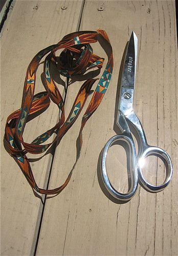 new shears & ribbon