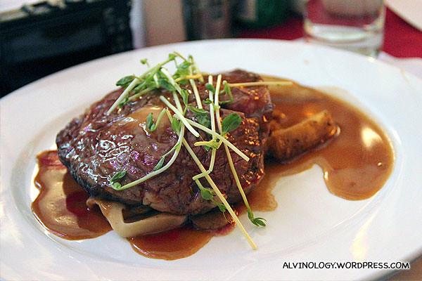 My steak main course