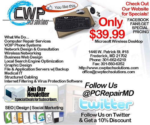 Computer Repair Services Frederick Md