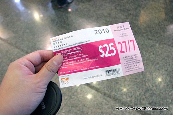 HKD$25 per pax for admission