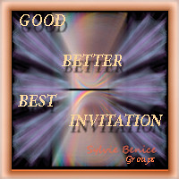 good better best Invitation