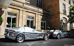 Mercedes-Benz SLR McLaren Brabus & Bugatti Veyron 16:4 (Willem Rodenburg) Tags: uk england 3 slr london k photoshop mercedes benz hotel unitedkingdom united 4 picasa kingdom chrome arab mclaren u mercedesbenz 164 16 1855 carbon rims tuning bugatti sang coupe pur willem londen veyron brabus lightroom rodenburg