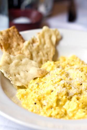 Scrambled eggs, pecorino, black pepper @ Maialino