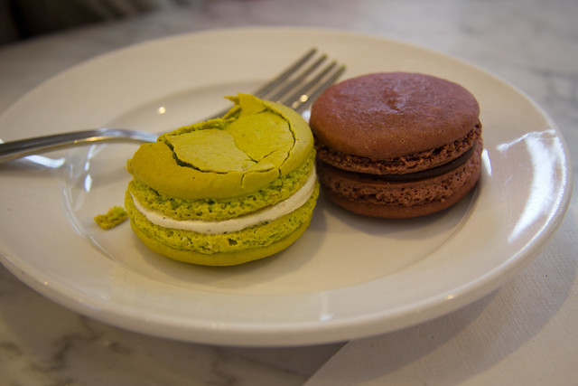 macaroons at pistachio cafe in germantown