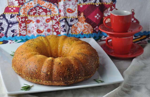 Polenta Olive Oil Cake with Rosemary