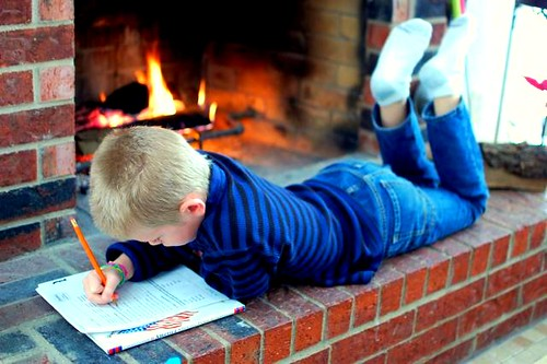 homework by the fire