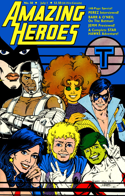 Amazing Heroes 50 July 1981 Teen Titans cover by George Perez