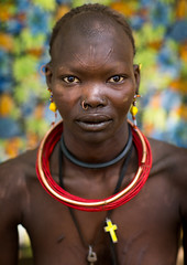 Sudanese Toposa tribe woman refugee portrait, Omo Valley, Kangate, Ethiopia (Eric Lafforgue) Tags: africa anthropology beaded beads beautifulpeople bizarre blackpeople bodytransformation christian closeup cross day decoration developingcountry eastafrica ethiopia ethiopia0617299 ethiopian feminine headshot hornofafrica indigenousculture jewel jewelry kangate lookingatcamera necklaces omovalley oneperson onewomanonly outdoors portrait refugee scarifications scars sudanese toposa traditionalclothing tribal tribe tribeswoman vertical women et