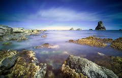 Mupe Bay (HannahGE) Tags: summer clouds motion movement longexposure walk ranges lulworth ledges mupe rocks filters nd sea water uk south coast jurassic dorset
