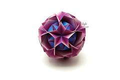 Argentum (Akizhi) Tags: origami kusudama modular paper art folding craft