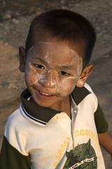 Myanmar 2017-37 (Trev Thompson) Tags: asia boy burma burmese child cosmetics culture ethnic happy lookingatthecamera myanmar people portrait smiling streetscene thanakha ye mon