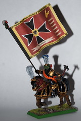 Empire Standard Bearer, Mounted (The Grey Area) Tags: conversion citadel banner fantasy empire warhammer standard wfb gamesworkshop