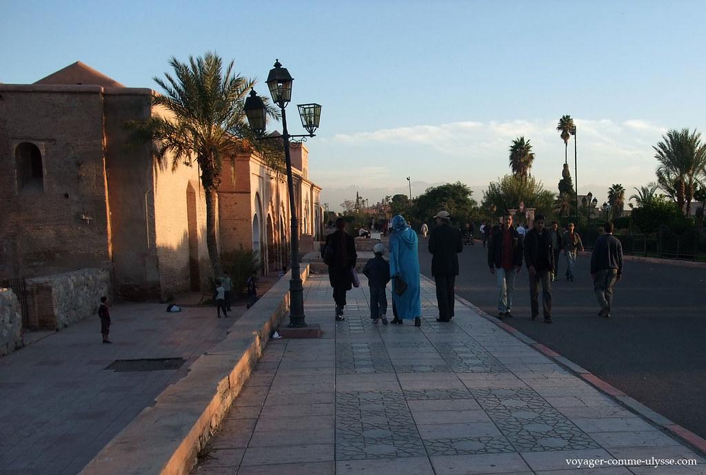 Beaux trottoirs marocains