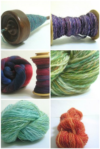 Tour de Fleece 2010 collage