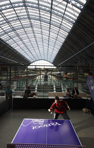 Ping! St Pancras Table - Photo credit David Parry/PA Wire