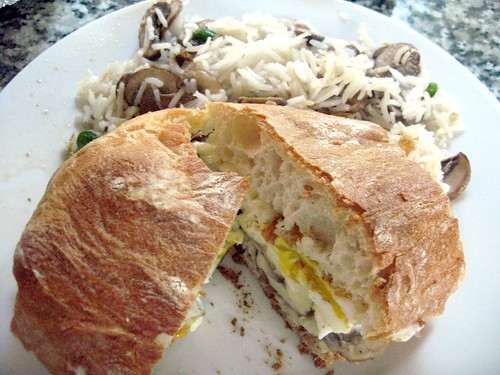 Simple Fried Egg Sandwich with Provola