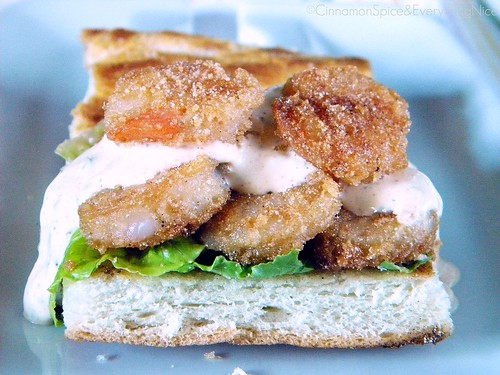 Shrimp Po' Boy with Remoulade