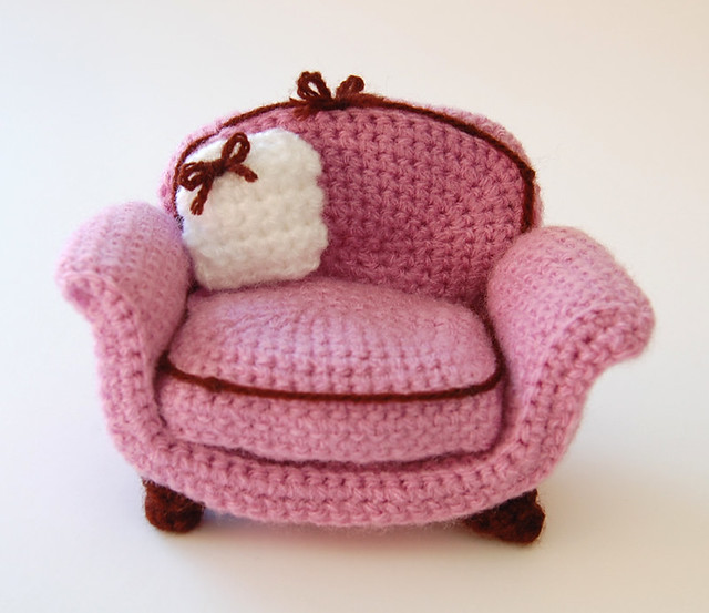 crocheted armchair
