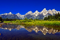 River Reflections - Grand Teton Range (NikonKnight) Tags: snow mountains reflections river nationalpark grand glacier glaciers bluehour teton tetons reflexions riverbottom thegalaxy tetonnp mygearandmepremium mygearandmebronze mygearandmesilver mygearandmegold mygearandmeplatinum mygearandmeplatinium