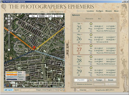 Lynedoch Crescent - July 27 Ephemeris