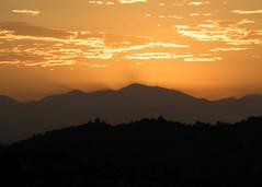 Wednesday in LA at 6:13am (Mark Luethi) Tags: morning orange sun mountains sunrise landscape la losangeles glow socal goodmorning elysianpark